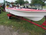 1950 Red Fish Fishing Boat