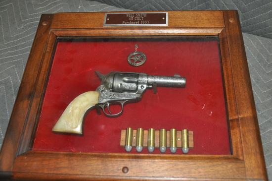 Custom Antique Revolver Display