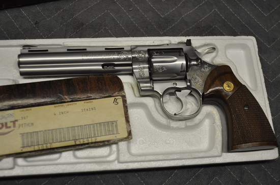 Colt Python .357 Factory Engraved