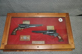 Custom Antique Black Powder Revolver Pair Display