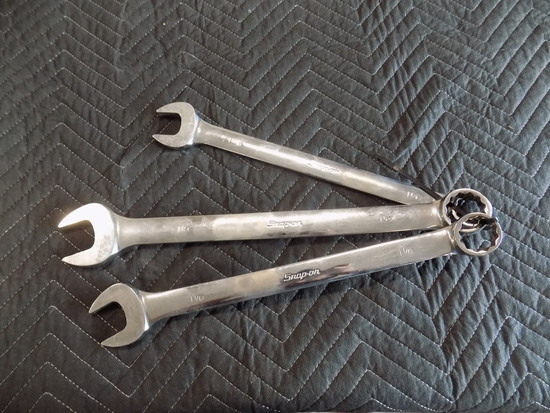 Snap on combination wrenches standard 3 piece