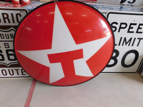 Vintage Texaco Single Sided Light Up Service Station Sign