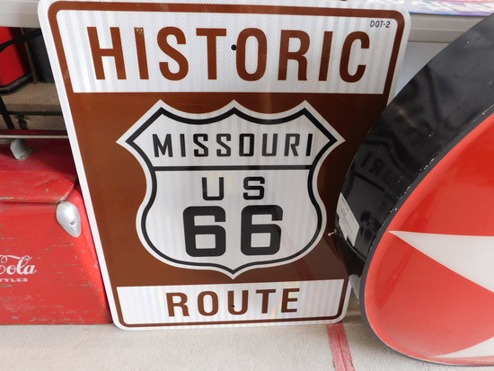 Newer Missouri Historic Route 66 Metal Sign