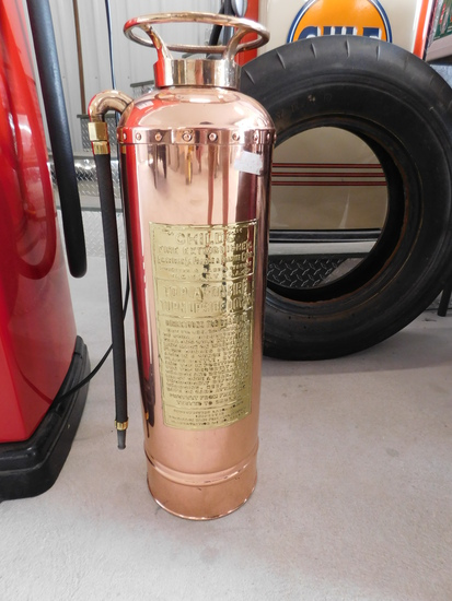 1920s-30s Childs Brass Fire Extinguisher
