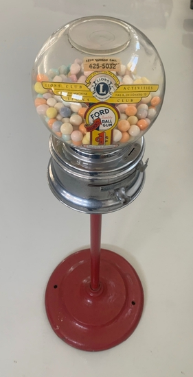 Lions Club Activities Gumball Machine Ford Quality Ball Gum