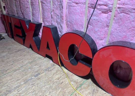 Large TEXACO Block Letters Red