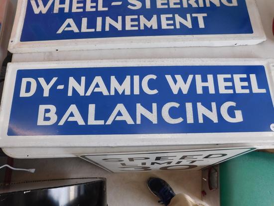 1960s Dy-Namic Wheel Balancing Single Sided Sign