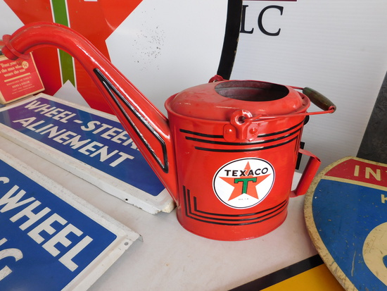 1930s Restored Texaco Oil Service Department Can