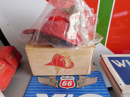 1960s Texaco Oil Fire Chief Childs Promotion Helmet