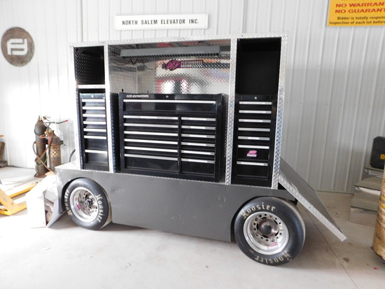 Large Rolling Pit Cart U.S. General Tool Boxes
