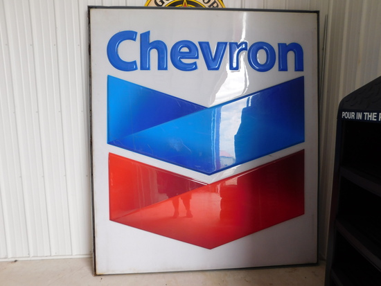 Chevron Sign Roughly 8 foot by 7 foot Single Sided