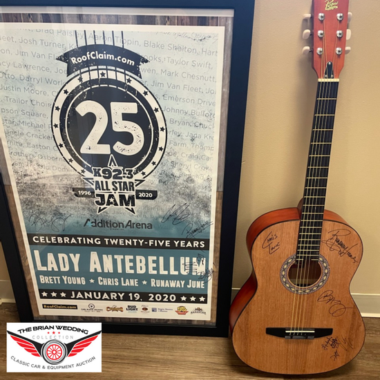 Signed Lady Antebellum Poster & Guitar to Support It Takes a Village No-Kill Rescue Charity