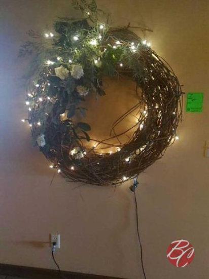 Wall Lighted Wreath