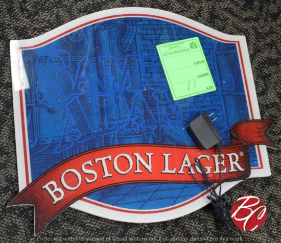 Boston Lager Lighted Sign