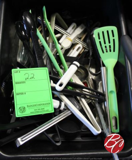 Bin of Utensils