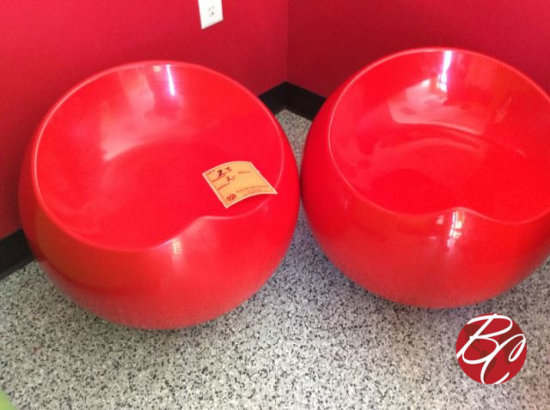 Red Round Seats