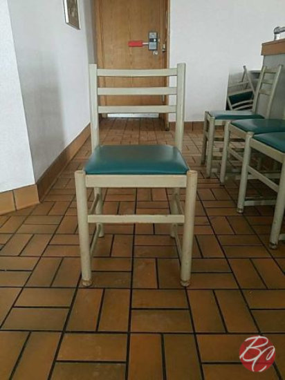 Teal Metal Padded Chairs