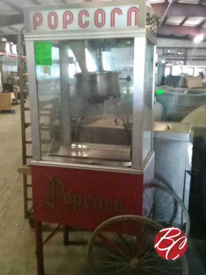 Gold Medal Popcorn Machine W/ Wagon Stand