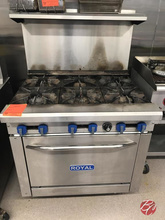 Royal Gas 6-burner Range