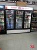 True 3 Door Refrigerated  Cooler