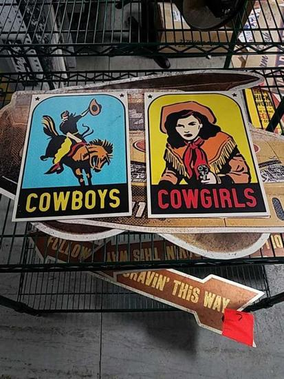 Cowboys and Cowgirls Signs