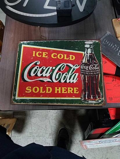 Ice Cold Coca Cola Sold Here Tin