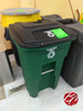 Plastic Recycling Bin W/ Back Wheels