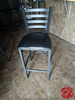 Black Metal Framed Padded Height Top Chairs