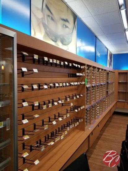 Wood Eye Glass Wall Display