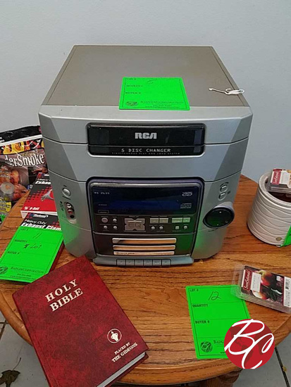 Rca 5 Disc Changer Stero System M# Rs2635
