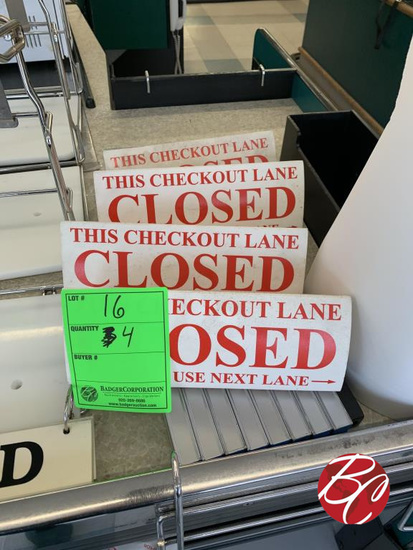 Checkout Closed Signs