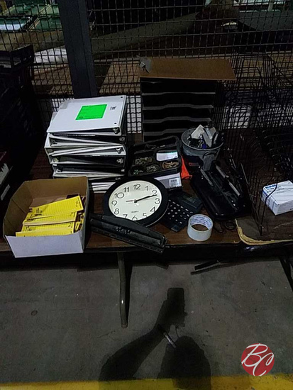 Office Supplies-binders,clock Calculator,hole Punc