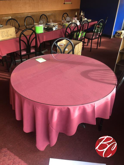 48? Round Table With Glass Top
