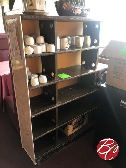 Wood Display And Cups