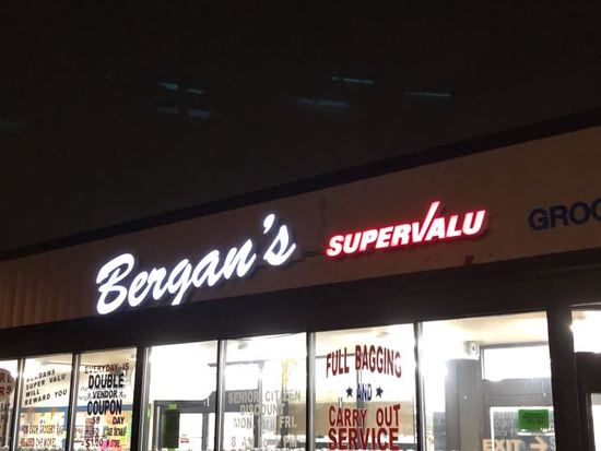 Bergan's Supervalu Sign