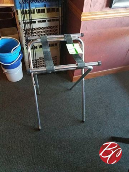 Stainless Steel/wood Tray Stands