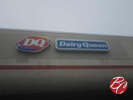 Outside Dairy Queen Light Up Sign