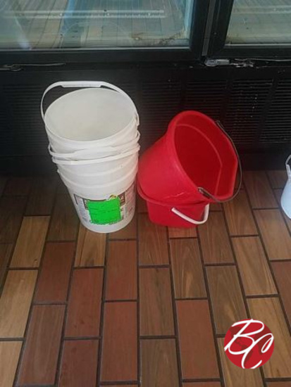 Miscellaneous Lot Of Buckets