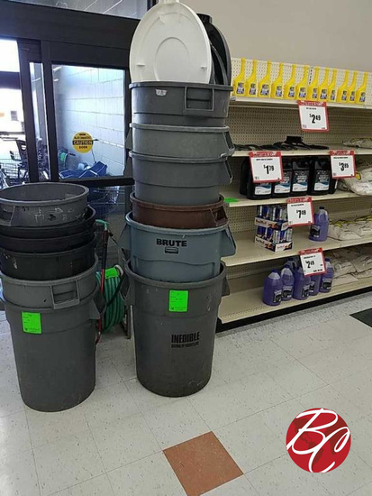 Rubbermaid Brute Garbage Can's