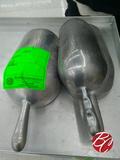 Aluminum Ice Scoops (2) 64oz (1) 32oz