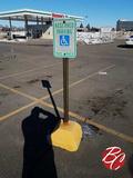 Handicap Cinder Block Signs