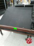 Metal Framed Wood Adjustable Slant Racks & Casters