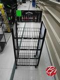 Merchandising Display Rack On Casters
