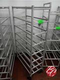 New Age Aluminum Meat Tray Carts