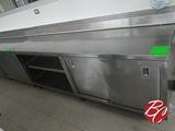 Us Stainless Steel Cabinet W/ Backsplash &