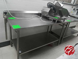 Amtekco Stainless Steel Table W/ Backsplash 60
