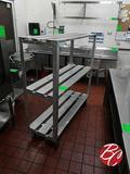 Aluminum 3-tier Stock Carts 60