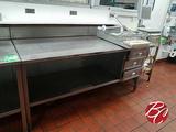 Stainless Steel Cabinet W/ Backsplash 72