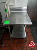 Stainless Steel Table W/ Backsplash 24