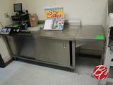 Universal Stainless Steel Cabinet W/ Backsplash